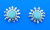 sterling silver sunflower earrings