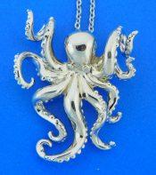 alamea sterling silver octopus pendant