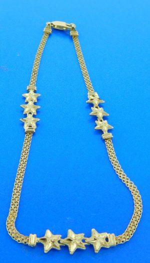 starfish ankle bracelet 14k