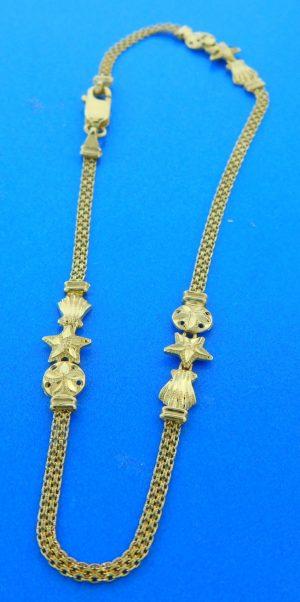 14k sealife ankle bracelet