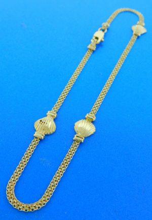14k sea shell ankle bracelet