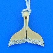14k denny wong whale tail pendant