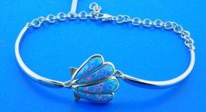sterling silver hawaiian sunrise scallop shell bracelet