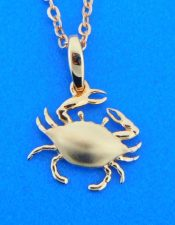 alamea 14k rose gold crab pendant
