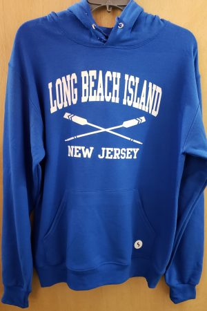 long beach island royal blue hoodie