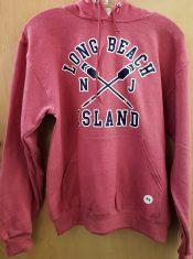 long beach island crossed oar hoodie
