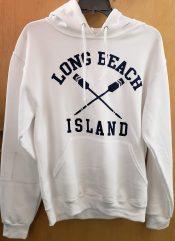 long beach island white oar hoodie