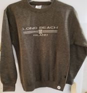 long beach island embroidered crew neck sweat shirt