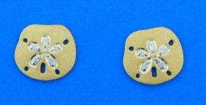 denny wong sand dollar diamond earrings