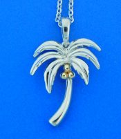 sterling silver alamea palm tree pendant