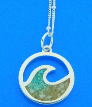 sterling silver wave pendant lbi sand