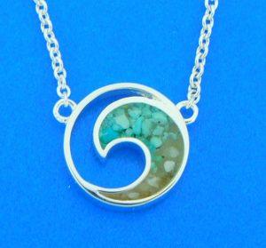 dune jewelry wave pendant lbi sand