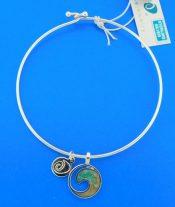 dune jewelry wave bangle bracelet