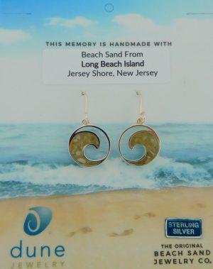 dune jewelry wave earrings sterling silver long beach island sand