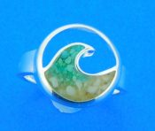 dune jewelry wave ring long beach island sand & turquoise