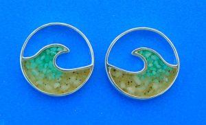 wave earrings lbi sand