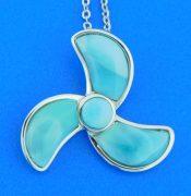 alamea sterling silver & larimar propeller pendant