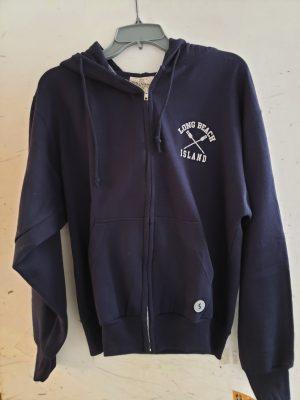 long beach island zipper hoodie