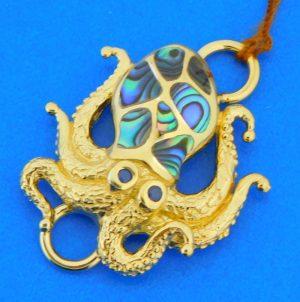 sterling silver octopus bracelet topper
