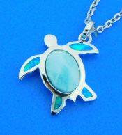 sterling silver rhodium plated honu sea turtle pendant
