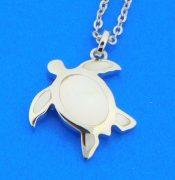 honu sea turtle pendant sterling silver
