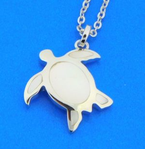 honu sea turtle pendant sterling silver