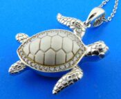 sterling silver sea turtle sterling silver pendant
