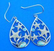 alamea sterling silver starfish earrings