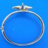 sterling silver starfish larimar bangle bracelet