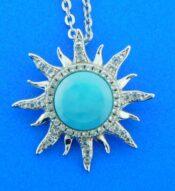 alamea sun pendant, larimar & czs