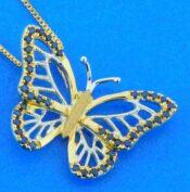 Denny Wong Butterfly Necklace, 14K 2-Tone