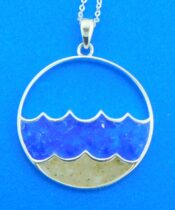 dune jewelry wave pendant sterling silver
