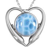 DOLPHIN HEART PENDANT 600-81-01