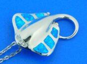 sterling silver alamea manta ray pendant