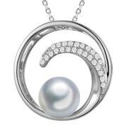 alamea cz pearl wave pendant-713-91-11