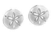 alamea sand dollar post earrings-514-12-11