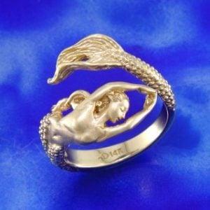 14k mermaid steven douglas ring