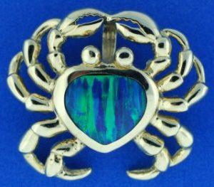 crab opal slide 14k