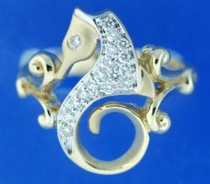 DIAMOND SEAHORSE RING